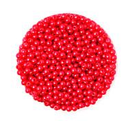 beadia 58g (ca. 2000pcs) 4mm lang abs Perlen rote Farbe Kunststoff-Perlen