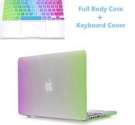 arco iris de mayor venta delgada del tirón de cuerpo completo caso y TPU cubierta del teclado dura para MacBook Pro de 13,3 pulgadas