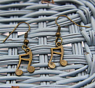 Elegant Musical Notes Notes Shaped Bronze Earrings
