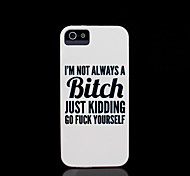 Phrase Pattern Cover for iPhone 4 Case / iPhone 4 S Case