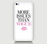 lèvres Anglais pattern Retour Housse pour phone4 / 4s