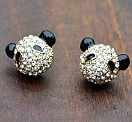 Filled Cute Little Panda Stud Earrings