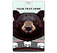 Personalized USB Flash Drive Black Bear Design 4GB Card USB Flash Drive