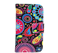 Fashion Pattern Design Pu Leather And The Card Slot Cell Phone Holster For Samsung Galaxy I8160