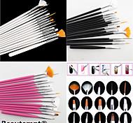 15pcs Nail Art Malerei Zeichenstift-Pinsel-Set (weiß, rosa, schwarz 3 Farben zur Auswahl)