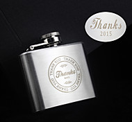Personalized Gift 2 oz Thanks Design Stainless Steel Flask