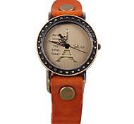 Unisex Eiffel Tower retro punk Leather Strap Watch XINZHEFUGUJIAPI2