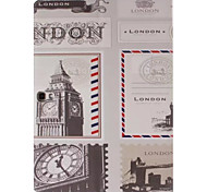 London Picture PU Leather Full Body TPU Case with Card Holder for Samsung Galaxy T800 /Tab S
