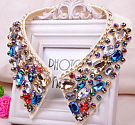 Z&X® Crystal/Fabric Fashion Colorful Crystal Collar Necklaces Party/Daily 1pc