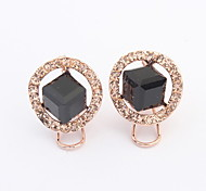 2015 New Arrived Free Shipping Geometric Temperament Crystal Earrings For Women