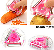 1PCS 3in1 Multi-function Rotary Vegetable Fruit Potato Peeler Slicer Shredder Cutter(Random Color