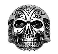 Кольца Halloween Повседневные Спорт Бижутерия Нержавеющая сталь Титановая сталь Мужчины Кольца на вторую фалангу Кольцо 1шт,8 9 10 Медный