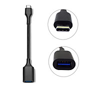 USB-C USB 3.1 Type C Male Connector to A Female OTG Data Cable for Google Chromebook & Apple Macbook 12""