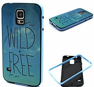 2-in-1 Wild Free Pattern TPU Back Cover with PC Bumper Shockproof Soft Case for Samsung S5 Mini/S3/S4/S3 Mini/S4 Mini