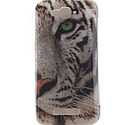 White Tiger Pattern TPU Soft Case for Alcatel One Touch Pop C7