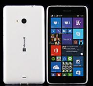 Для Кейс для Nokia Ультратонкий / Прозрачный Кейс для Задняя крышка Кейс для Один цвет Мягкий TPU Nokia Nokia Lumia 830 / Nokia Lumia 535
