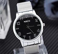 mejores para hombre de la banda de plata venta relojes de pulsera con mujeres de acero llena de buena calidad relojes relojes de cuarzo de