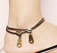 Creative Fashion Zipper Anklets