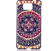 Round Flower Pattern  Printing Black Matte PC Material Phone Case for Samsung Galaxy Alpha G850