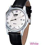 Female Disc With Calendar Waterproof Leather Strap Quartz Movement Watch  (Assorted Colors)