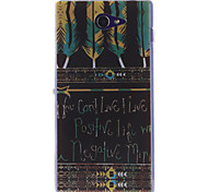 Black Feather Patterns TPU Soft Case for Sony Xperia M2