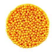 beadia 58g (ca. 2000pcs) 4mm lang abs Perlen gold gelbe Farbe Kunststoff-Perlen