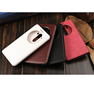 For LG Case Case Cover with Stand with Windows Full Body Case Solid Color Hard PU Leather for LG LG G5 LG G6 LG G4