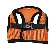 wide selection original colorful light orange Pet harness Dog vest harness Dog clothing Puppy summer wear