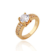 Women's Fashion Romantic 18K Gold Plated Zircon Rings