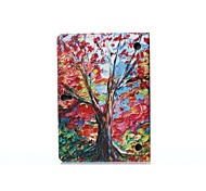 Oil Painting Maple Picture PU Leather Full Body ABS Case with Holder for Samsung Galaxy T800 /Tab S 10.5