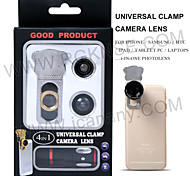4 in 1 mobile phone lens/ optical glass lens/180° fisheye+0.67x wide angle lens +8x telephoto lens+ macro lens