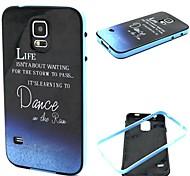 COCO FUN® Dawn Walking In The Rain Pattern Soft TPU IMD Back Case Cover for Samsung Galaxy S5 I9600