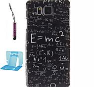 elementos de la caja del teléfono del tpu patrón fórmulas para samsung galaxy alfa / G850