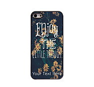 Personalized Gift Enjoy Design Aluminum Hard Case for iPhone 5/5S