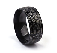 Z&X® Men's Party/Casual Fashion Stripe Titanium Steel Rings