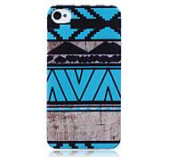 blau ethnische Muster TPU weich rückseitigen Abdeckung für iPhone 4 / 4S