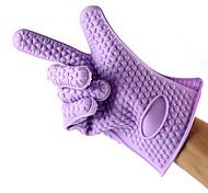 1шт силиконовые рукавицы печь защитные перчатки выпечки инструменты (случайный цвет)