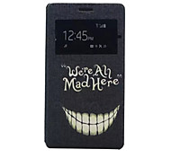 Smile Pattern PU Leather Phone Case For Sony C4