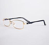 [Lentes Gratis] Unisex 's Rectángulo Completo llanta Gafas de Leer