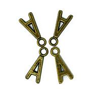 beadia 100pcs alfabeto lettera 7x16mm antichi fascini in lega di bronzo pendenti accessori fai da te