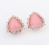 Hot Sell Opal Earrings Free Shipping Triangle Shaped Opal Crystal Alloy Earrings For Women
