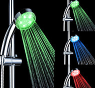 Colorful ABS Temperature Detectable LED Color Changing Hand Shower