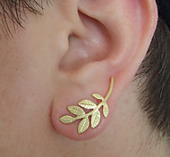 European Style Punk Leaf Shape Earrings Earrings Earpins(1pc)