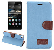 PU Leather Slim Stand Case Cover Wallet Case Classic for Huawei P8 (Assorted Colors)