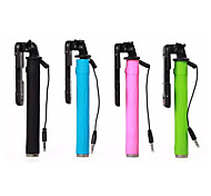 Super Mini Monopod Extendable Stick Cable Take Pole with keypad for iPhone 4/4S/5/5S/5C/6/6 Plus (Assorted Colors)