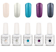 Gelpolish Nail Art Soak Off UV Nail Gel Polish Color Gel Manicure Kit 5 Colors Set S111