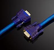 jsj® masculino 15pin vga al cable de conexión de vídeo HD macho para el monitor del ordenador TV proyector (3m od8.0mm, 5m, 10m, 15m, 20m)