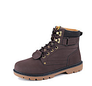 Sapatos Masculinos Botas Preto / Marrom / Amarelo Courino Ar-Livre / Escritório & Trabalho / Casual