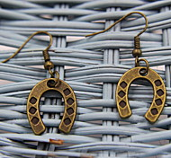 Creative Horseshoe Shaped Bronze Earrings
