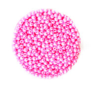 Beadia 58g(Approx 2000Pcs)  4mm Round ABS Pearl Beads Hot Pink Color Plastic Beads